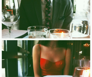love, couple, and date image