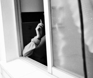 smoke, cigarette, and window image