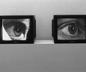 eyes, tv, and art image