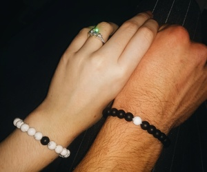 black and white, bracelet, and christmas image