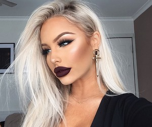 beauty, hairstyle, and makeup image
