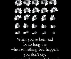 sad, NUMB, and cry image