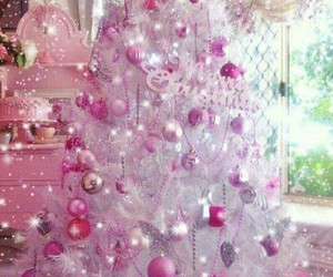 pink tree and pink christmas image