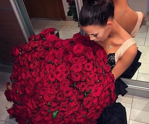 flowers, rose, and luxury image