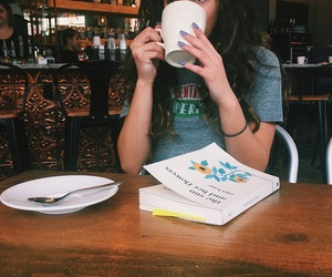 central, curly hair, and latte image