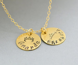 etsy, personalized, and crown necklace image