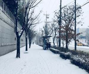 seoul, snow, and winter image