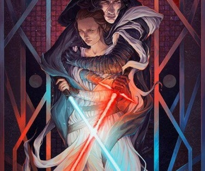 star wars, kylo, and reylo image