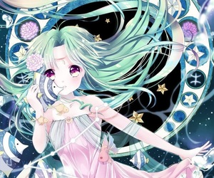 pisces, zodiac, and anime image