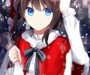 merry christmas, pretty, and animeart image