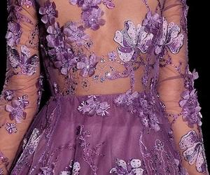 purple, fashion, and flowers image