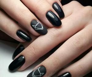 nails, black, and fox image