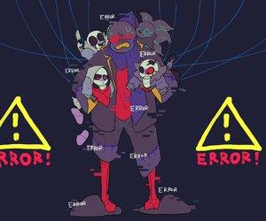 undertale, error!sans, and errortale image