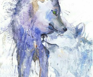 28 images about ANIMAL WATERCOLOR WALLPAPER on We Heart It