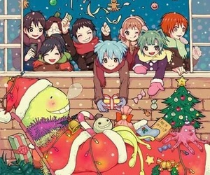 assassination classroom, christmas, and anime image