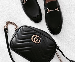 bag, gucci, and loafers image