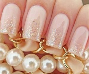 gold, nails, and shine image