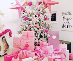 christmas, home, and pink image