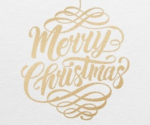 christmas, december, and gold image