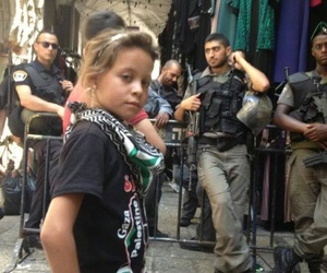 childhood, girl, and Palestinian image