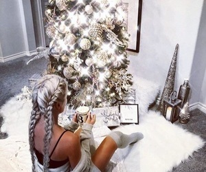 christmas, cozy, and decor image