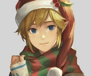 link, the legend of zelda, and christmas image