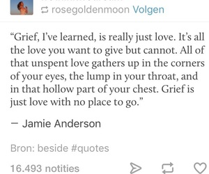 grief, love, and poetry image