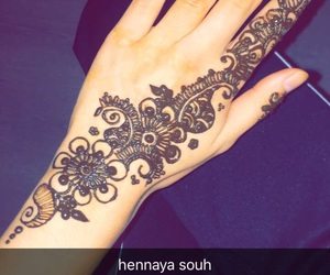 flower, henna, and morocco image