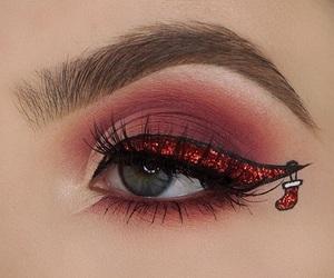 christmas, holidays, and makeup image