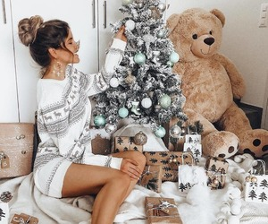 christmas, girl, and xmas image