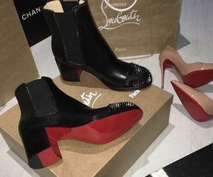 boots, christian louboutin, and heels image