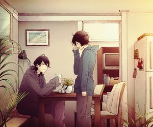 black hair, ensemble stars, and anime boys image