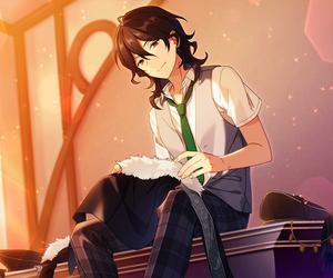 black hair, ensemble stars, and anime boy image