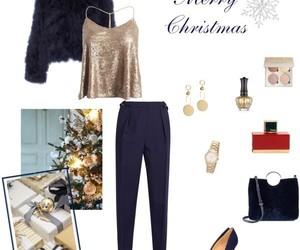 bag, blue, and christmas image
