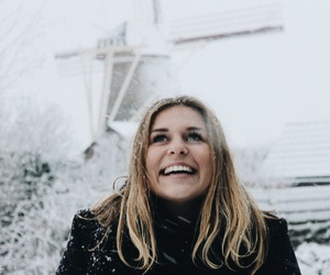 dutch, snow, and windmill image