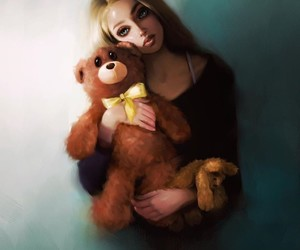 drawing and teddy image