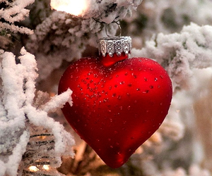 christmas, heart, and red image