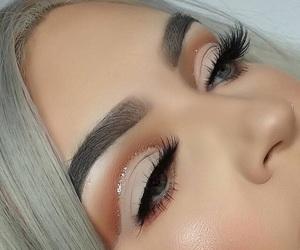 blush, eye makeup, and lashes image