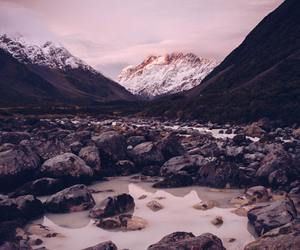 mountain, nature, and pink image