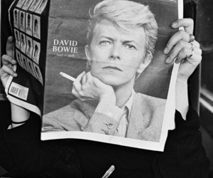 black and white, david bowie, and vintage image