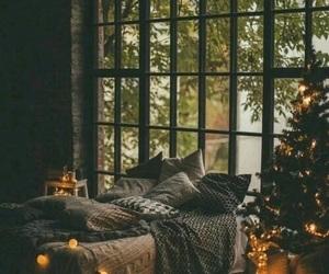 christmas, light, and bedroom image
