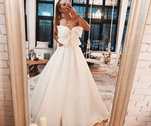 dress, beautiful, and bow image