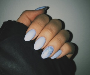 almond, baby blue, and cold image