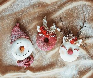 christmas, donuts, and doughnut image