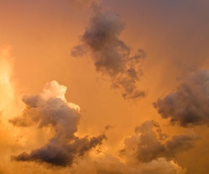 yellow, sky, and clouds image