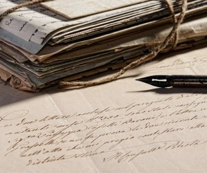 antique, cursive, and fountain pen image