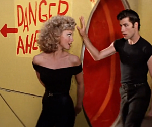couple, grease, and John Travolta image