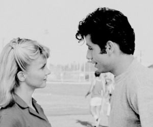 grease, John Travolta, and olivia newton john image