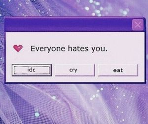 purple, aesthetic, and hate image