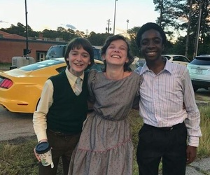 stranger things, millie bobby brown, and noah schnapp image
